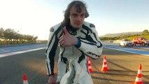 François Gissy, un Français de 32 ans, a fait du 333 km/h sur un vélo fusée.