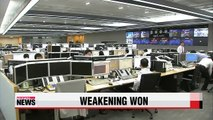 Korean won weakens against greenback to yearly low