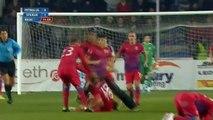FOOTBALL VIOLENCE  Romanian Fan Punches Steaua Bucharest Player