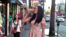 Une fille prétend etre ivre afin de voir la réaction des hommes qui la croisent dans la rue (expérience sociale)
