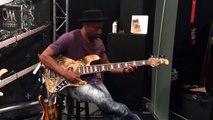 Marcus Miller and a Mayones Bass (Bass Player Live, Los Angeles, Califonia, USA - November 2014)