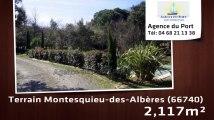 A vendre - terrain - Montesquieu-des-Albères (66740) - 2 117m²