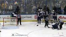 Double Fight during Hockey game! Nikita Zadorov vs Ian Cole & Tyler Ennis vs Alex Steen Nov 11, 2014