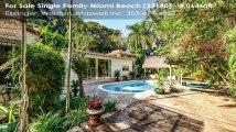 Single Family For Sale: 2900 PRAIRIE AV Miami Beach, FL $2575000