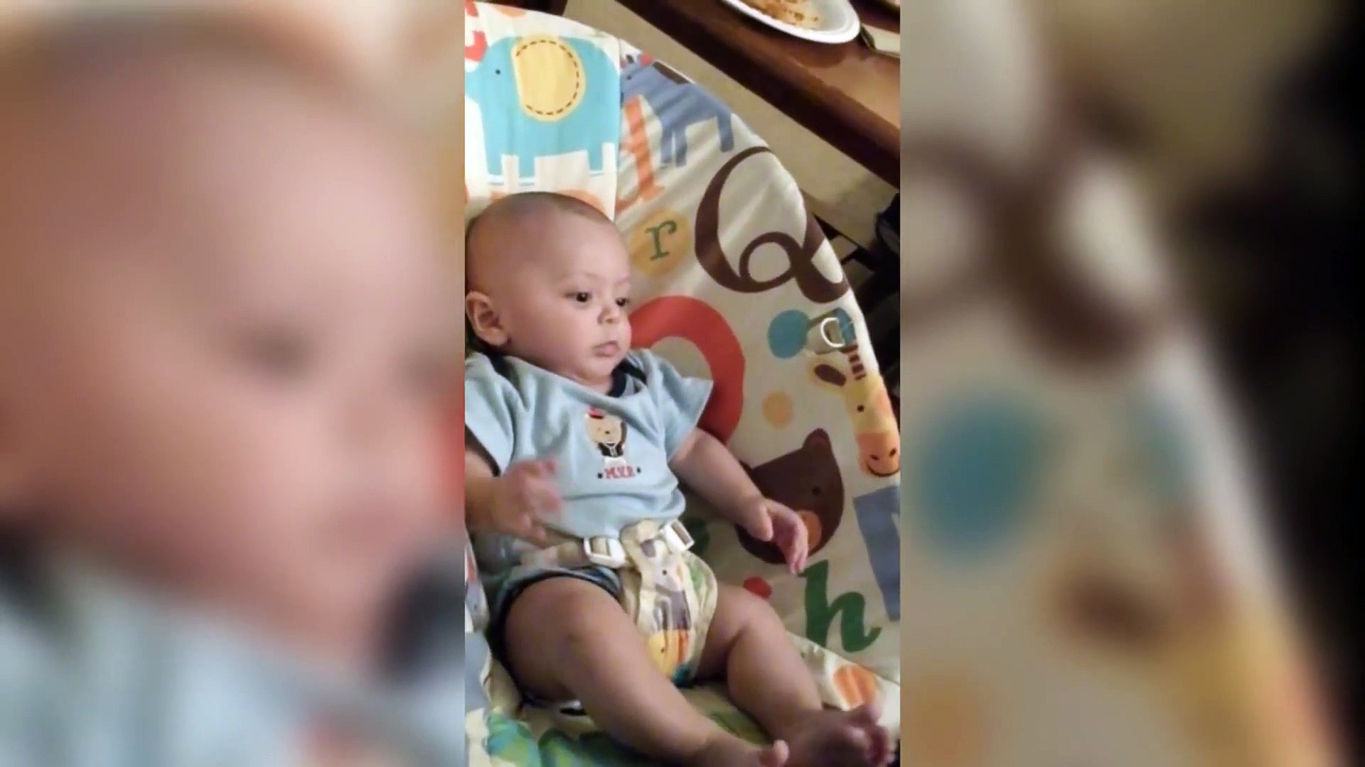 Baby Goes Nuts for TV Remote  Future Couch Potato