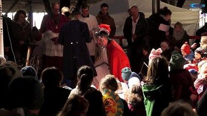 St. Martinsfeier 2014 der Pfarreien St. Maximilian und Hl.Geist mit dem Martinsspiel am Viktualienmarkt