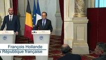 Michel et Hollande évoquent à Paris projets d'infrastructure et dossiers européens