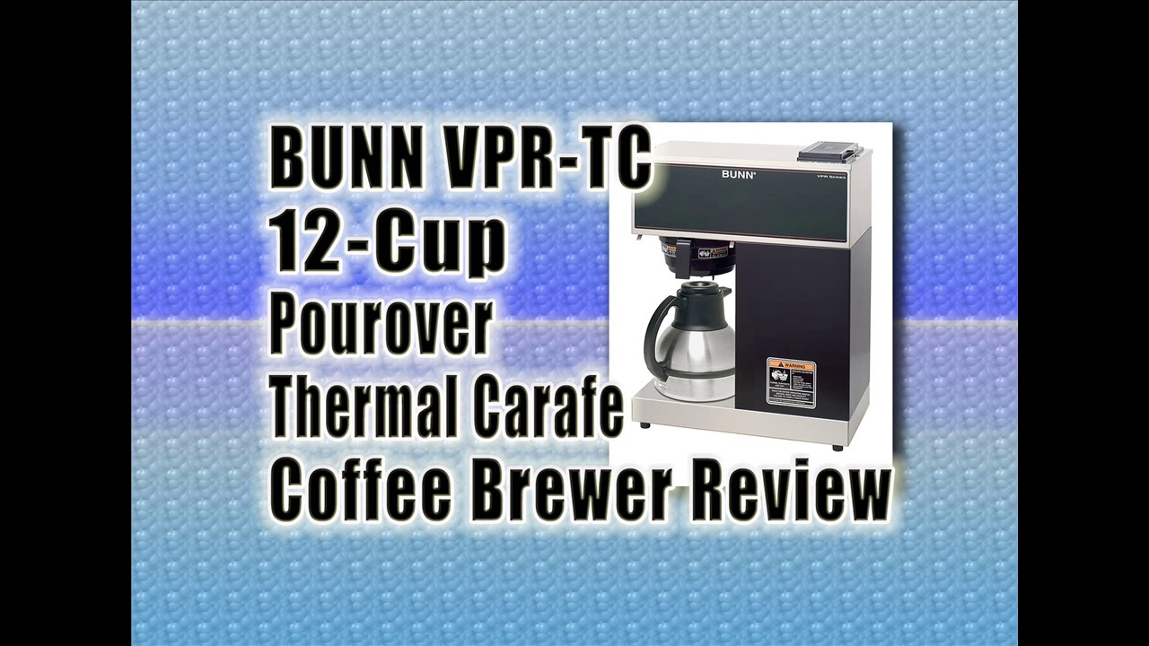 BUNN VPR-TC 12-Cup Pourover Thermal Carafe Coffee Brewer : Best Coffee Brewer Machine Reviews