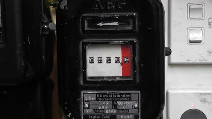 Roll over to 600 on very old AEG meter