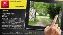A vendre - propriété - PENNE D AGENAIS (47140) - 5 pièces - 215m²