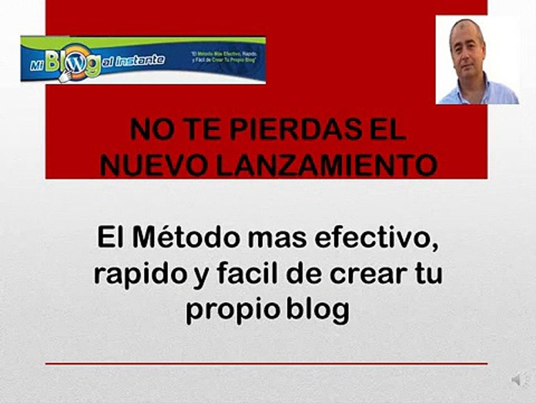 Blogs RAPIDOS y PROFESIONALES - Mi Blog al Instante