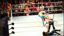 The Bella Twins & Eva Marie Vs Alicia Fox Aksana & Layla @ WWE Live Raleigh NC 3 28 14 - YouTube2