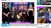 Jennifer Lawrence & 2 Hunger Games Actors Crash SNL, Hosted by Co-Star Woody Harrelson