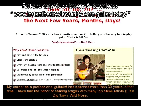 how to learn guitar for beginners chords   Adult Guitar Lessons Fast and easy video lessons