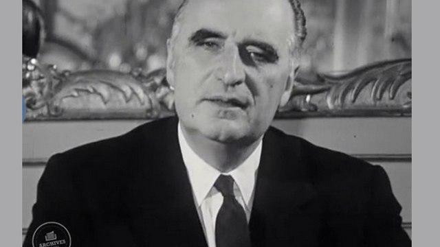 """Allocution du Premier ministre Georges Pompidou, suite à l'assassinat de John F. Kennedy : """"En ces heures tragiques, la France toute entière est aux côtés des Etats-Unis"""""""