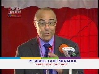 #FemmesSFDK2014 - Intervention de M. Abdellatif Meraoui, Président de l'AUF