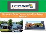 Sunrise Beach Missouri Vacation Rentals and Vacation Homes