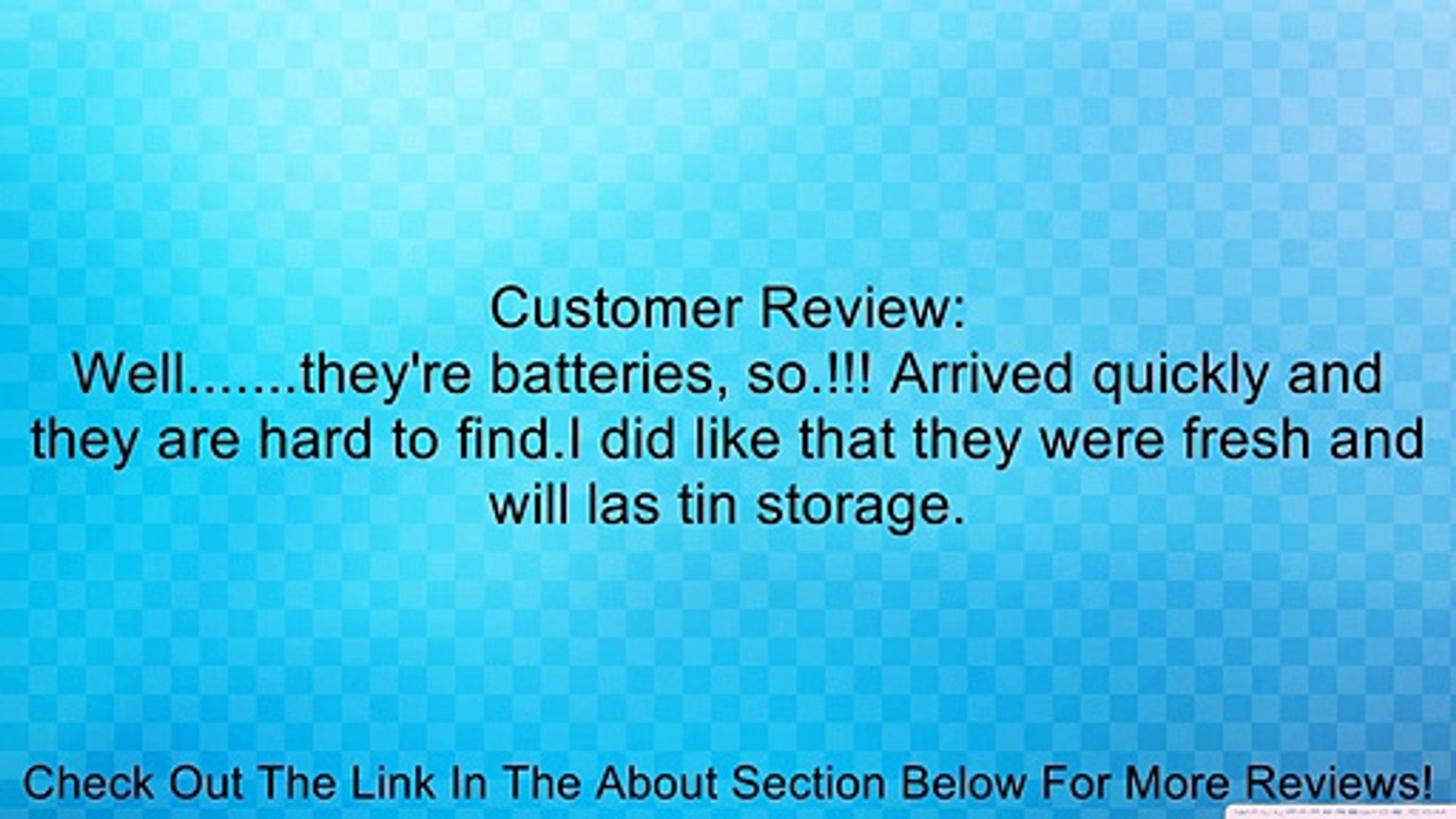 AAAA ENERGIZER E96 Batteries x 12 batteries exp. date 2017 Review