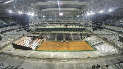 Coupe Davis 2014 : le stade Pierre-Mauroy à l'heure de France-Suisse