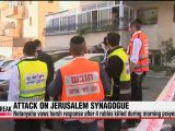 Israeli PM vows harsh reponse to synagogue attackers; 4 rabbis killed