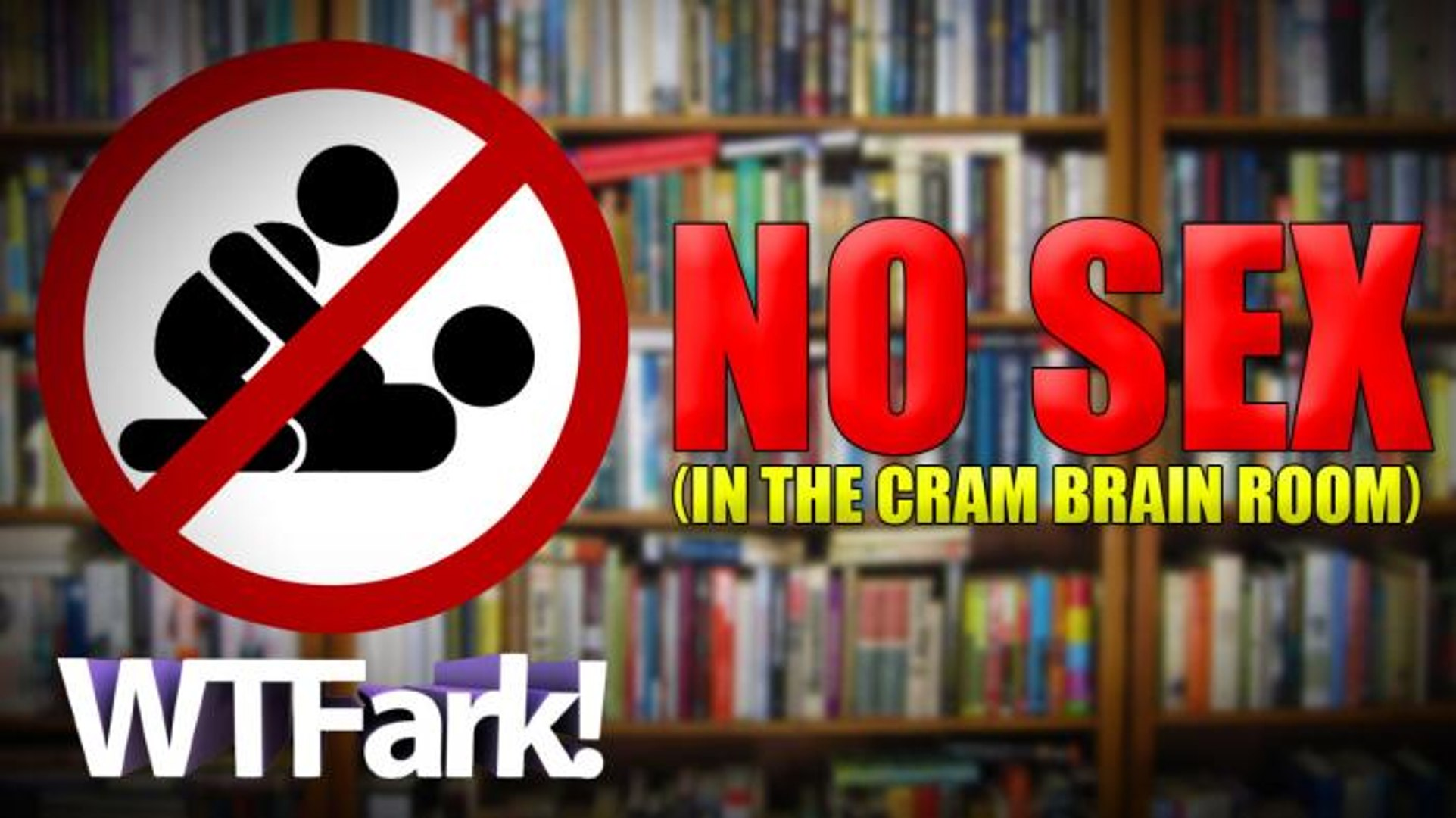 NO SEX IN THE CRAM-BRAIN ROOM: College Student Broadcasts Live Sex Show From Campus Library. And The