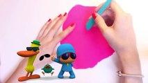 Play Doh Elly Shape DIY Pocoyo Play Dough Elly de Plastilina  Пластилін Покојо Let's Go Pocoyo