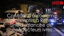 Contrôle alcoolémie à Rennes: les filles rivalisent avec les hommes dans les records