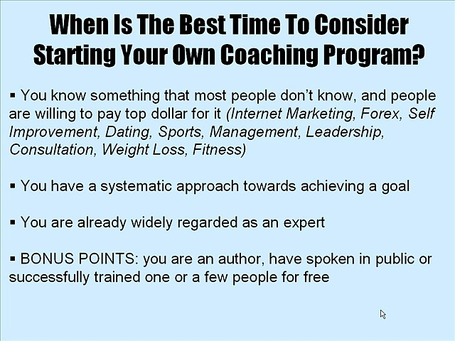 Learn How to Start Your Own Coaching Business