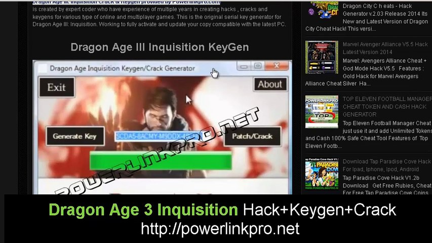Tutorial Dragon Age 3 Inquisition Full Game and Crack Download