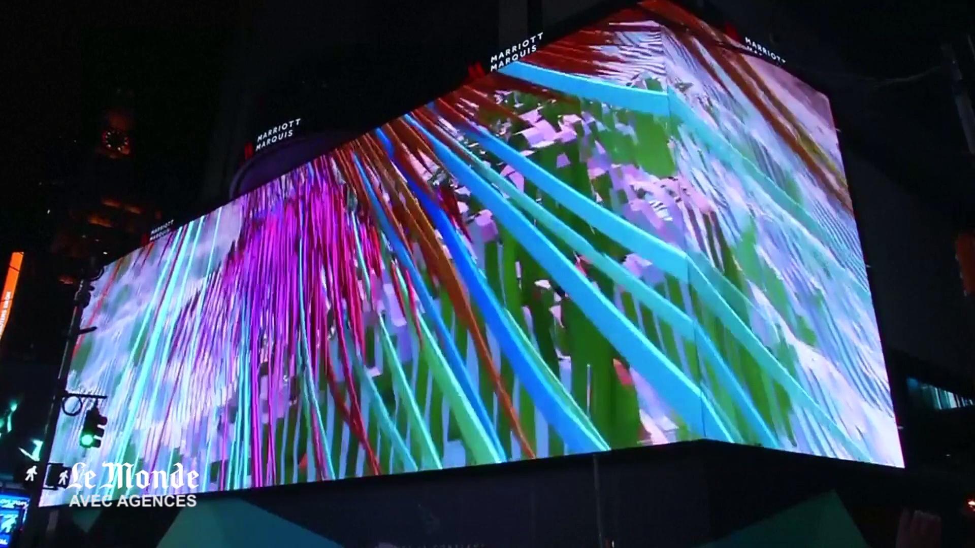 New York : le plus grand écran haute définition du monde est sur Times Square