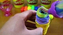 Play Doh Rainbow Ice Cream Cone, Ice Cream Scoop, & Ice Cream Popsicle   Fun & Easy Pay-Doh!
