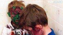 Un père surprend ses 2 enfants recouverts de peinture VOSTFR