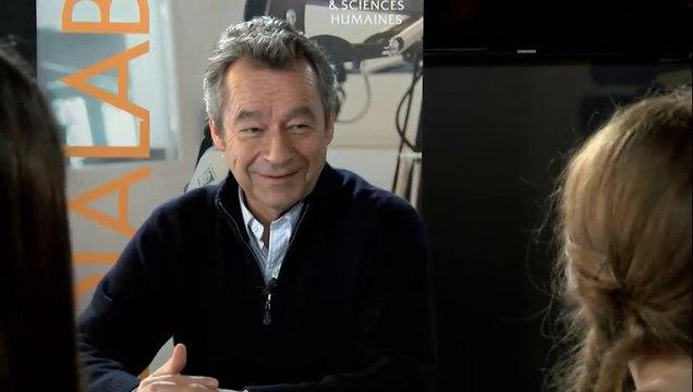 Michel Denisot inaugure le MediaLab - FLSH