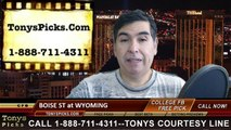 Wyoming Cowboys vs. Boise St Broncos Free Pick Prediction NCAA College Football Odds Preview 11-22-2014