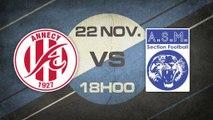 Samedi 22 Novembre à 18h00 - Annecy FC - Vénissieux Minguette - DH Rhône Alpes, J10