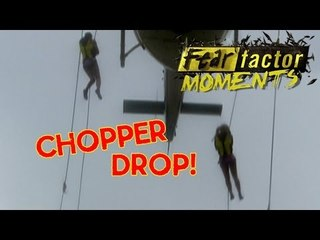 Fear Factor Moments | Helicopter Repel