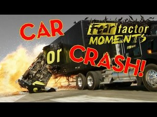 Fear Factor Moments | Car Catch Collision