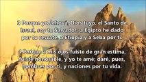 Isaias 43; 1-7 ( 1001 Promesas Biblicas ) Audiolectura - Voz Miguel de sevilla