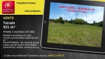 A vendre - terrain - PENNE D AGENAIS (47140) - 921m²
