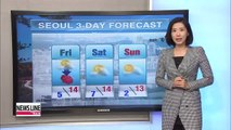 Late autumn weather ahead under mostly to partly sunny skies