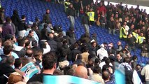 Scontri Tifosi Lazio vs Roma in tribuna Tevere