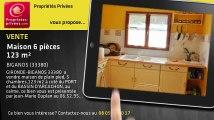 A vendre - maison - BIGANOS (33380) - 6 pièces - 123m²