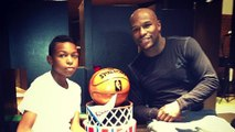 """Floyd Mayweather's Son Calls Him a """"Coward"""" for Beating His Mother"""