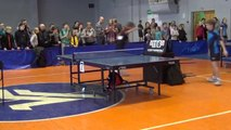 Violence in Table Tennis  : Child loses table tennis match, pushes referee out of his chair