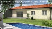 Vente - maison/villa - PECHBONNIEU (31140)  - 95m²