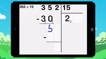 Poser une division a deux chiffres - Vidéo 2