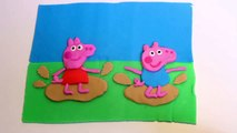 Play Doh Peppa Pig George Jumping Muddy Puddles Play-Doh Peppa Plays in Mud Puddles Play Dough