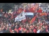 Napoli - Corteo Fiom, Landini: ''Renzi non ha il consenso dei lavoratori'' -2- (21.11.14)