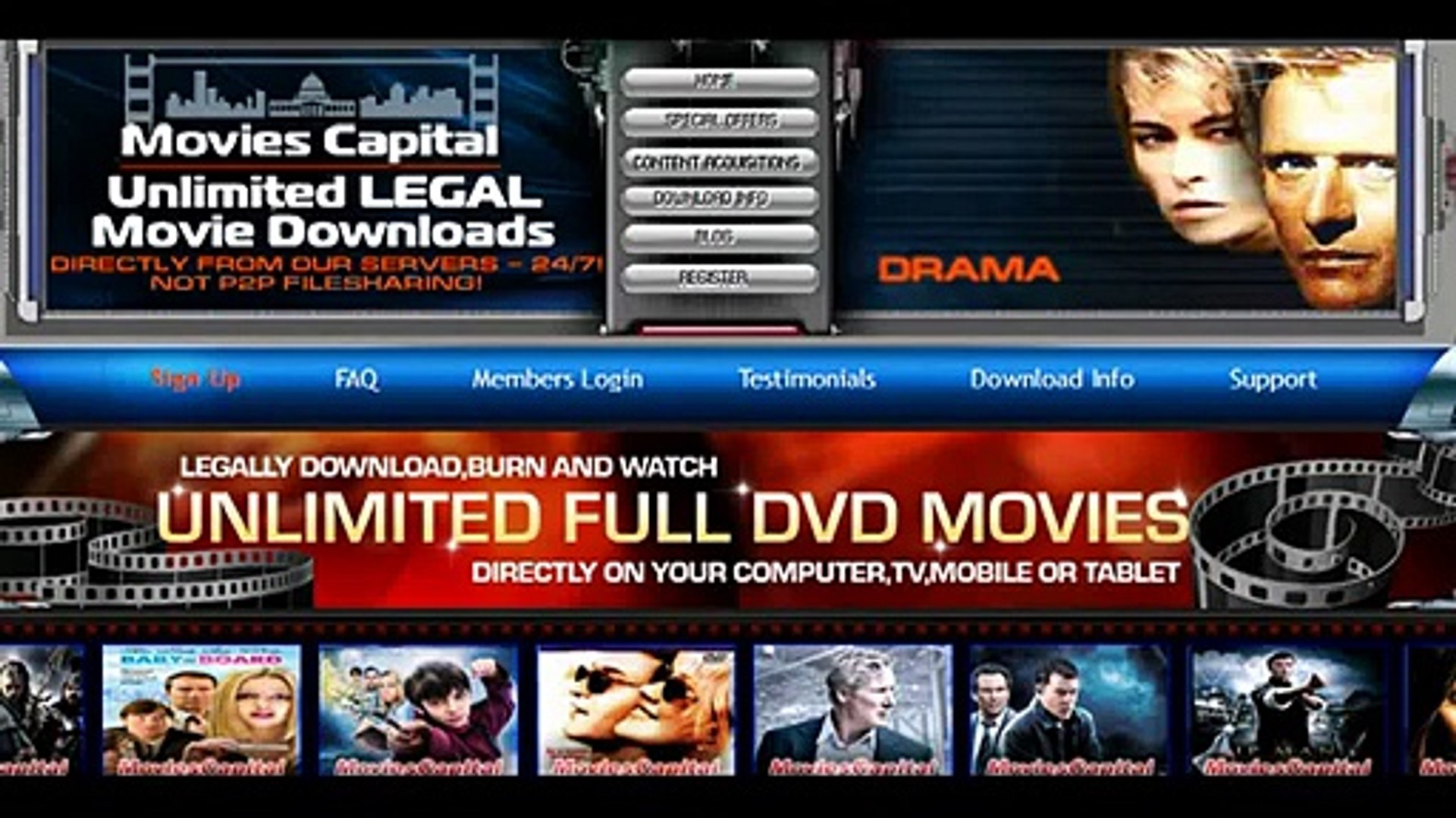 Movies Capital UNLIMITED FREE DVD MOVIES DOWNLOAD TO ANYTHING!