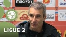 Conférence de presse GFC Ajaccio - Stade Lavallois (1-0) : Thierry LAUREY (GFCA) - Denis ZANKO (LAVAL) - 2014/2015